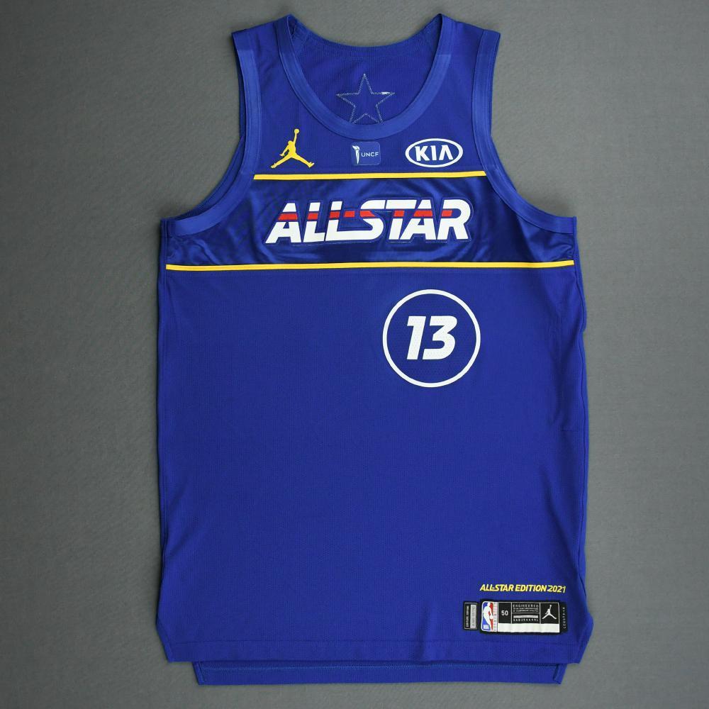 JamesHarden - Game-Worn 2021 NBA All-Star Jersey - 1st Half - Scored 21 Points