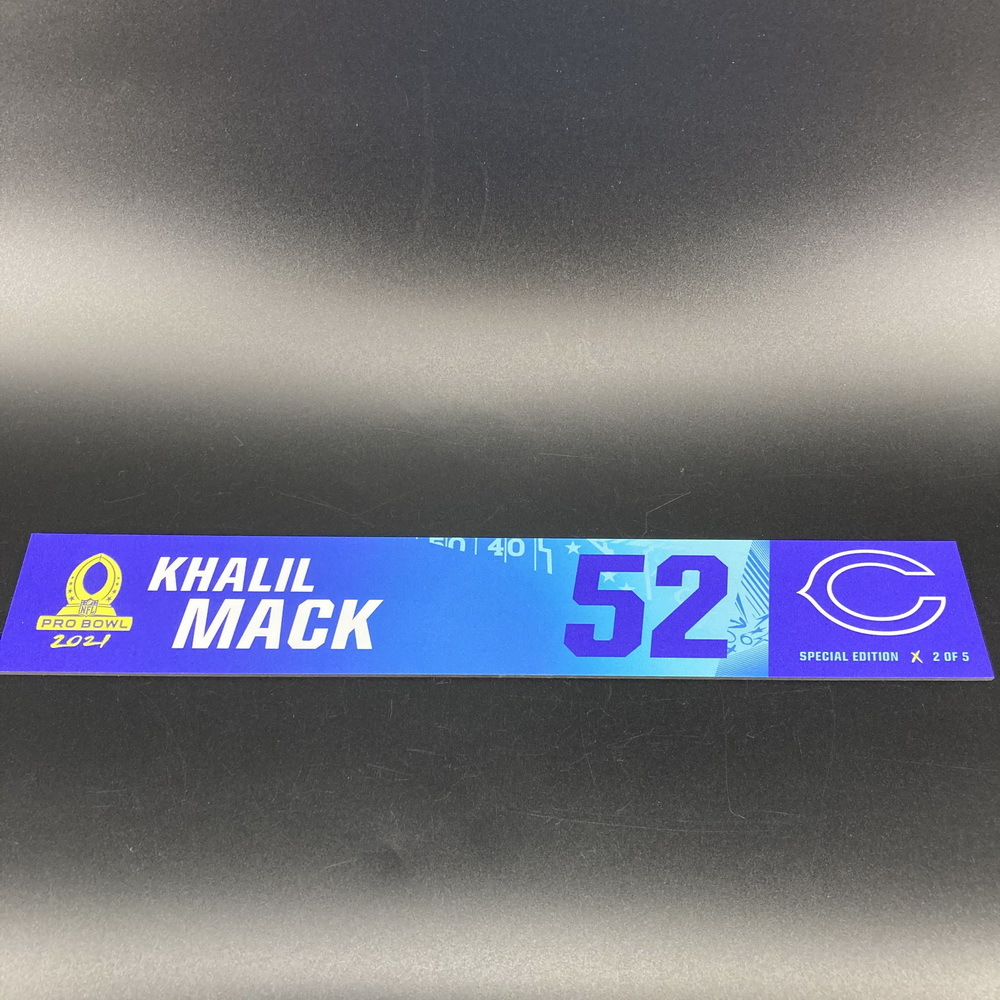 NFL - Bears Khalil Mack 2021 Pro Bowl Locker Nameplate Special Edition #2 of 5