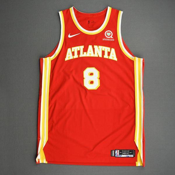 Image of Danilo Gallinari - Atlanta Hawks - Game-Worn Icon Edition Jersey - 2020-21 NBA Season