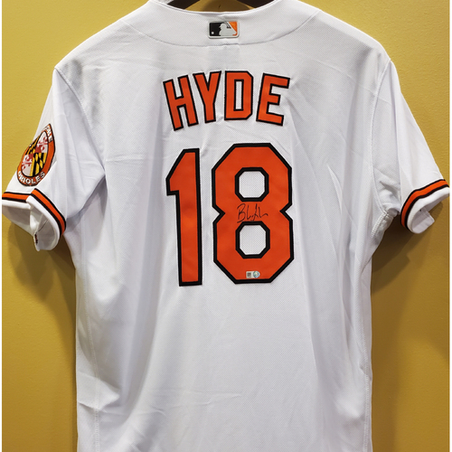 Photo of Brandon Hyde Autographed White Home Jersey - Size 44
