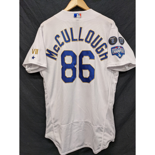 Photo of Clayton McCullough Game-Used Gold Trim 2021 Opening Weekend Home Jersey