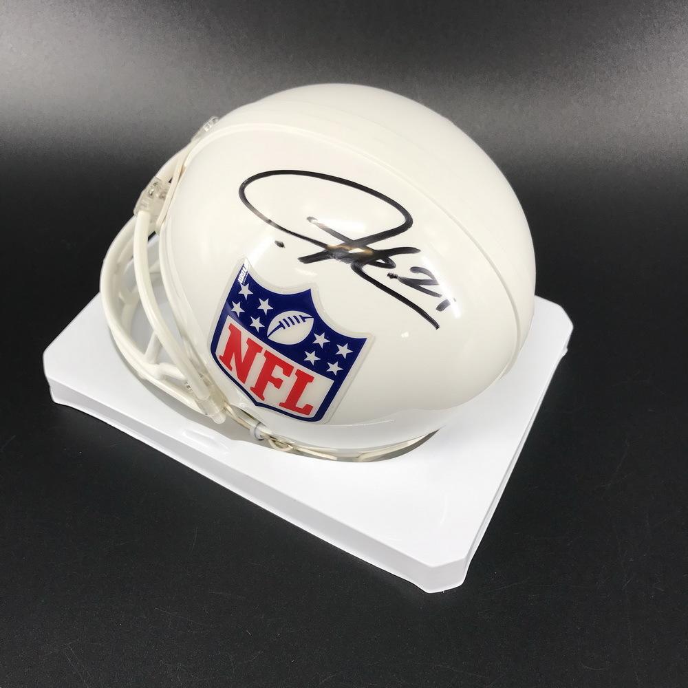 Legends - Chargers Ladainian Tomlinson Signed White NFL Shield Mini Helmet
