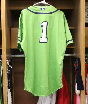Stockton Ports Signed Asparagus Jersey, #1, Size 44