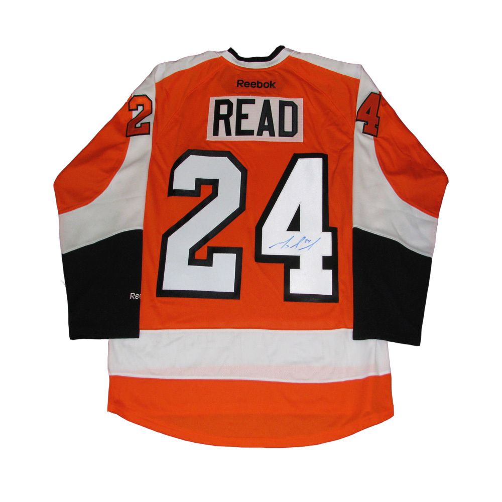 MATT READ Signed Orange Philadelphia Flyers Reebok Jersey