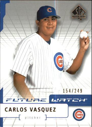Photo of 2004 SP Authentic 499/249 #93 Carlos Vasquez FW
