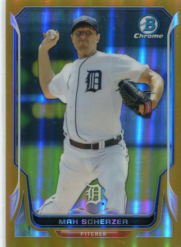 Photo of 2014 Bowman Chrome Gold Refractors #36 Max Scherzer 24/50