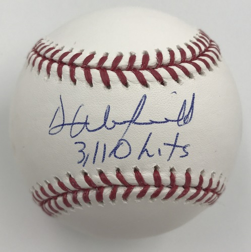 "Photo of Dave Winfield ""3,110 hits"" Autographed Baseball"