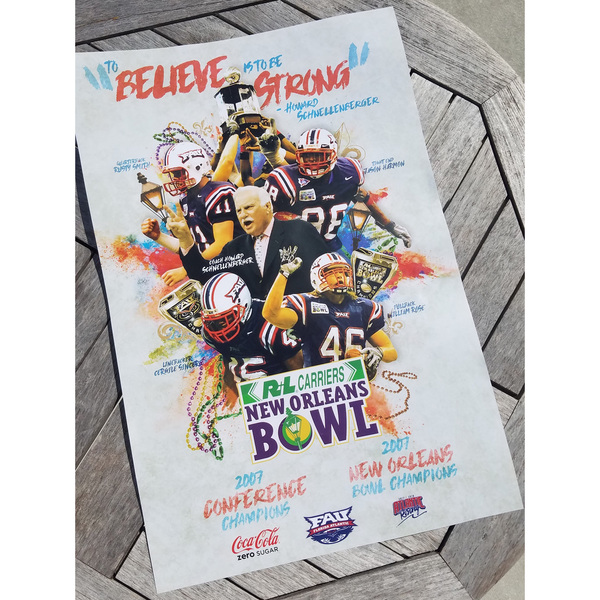 Photo of Commemorative 2007 New Orleans Bowl Football Poster