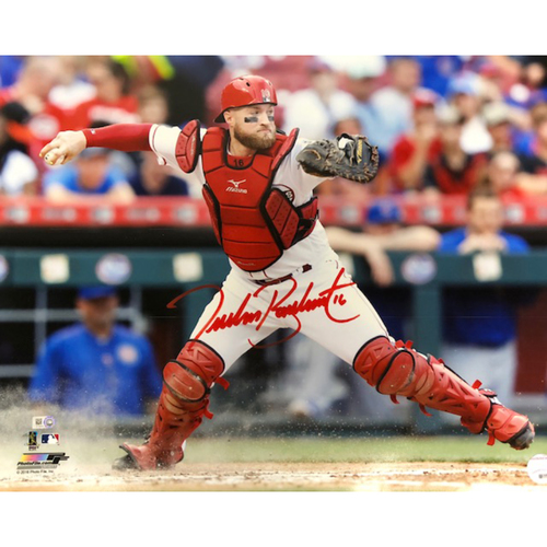 Photo of Tucker Barnhart -- Autographed Photo (16'' x 20'')