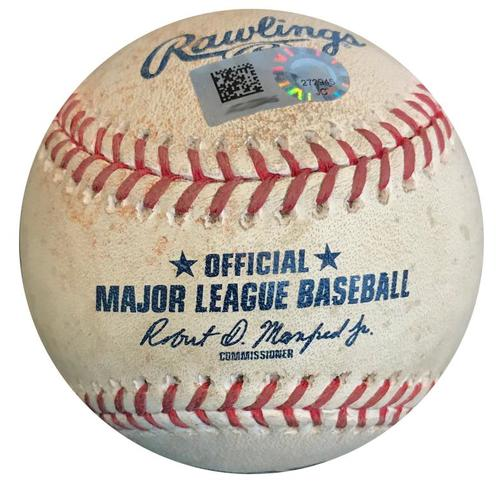 Photo of Game-Used Baseball from Pirates vs. Tigers on 4/25/18 (Game 1) - Jeimer Candelario Double