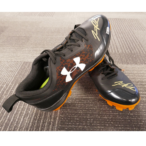 Photo of San Francisco Giants - Team-Issued Autographed Cleats - Jarrett Parker (pair) - Size 12