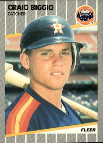 Photo of 1989 Fleer #353 Craig Biggio Rookie Card Hall of Fame Class of 2015