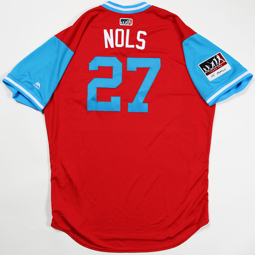 "Photo of Aaron ""Nols"" Nola Philadelphia Phillies Game-Used Jersey 2018 Players' Weekend Jersey"