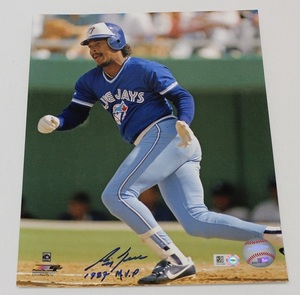 Autographed George Bell 8x10 Photo (1987 MVP Inscription) - Blue Jays Authentics