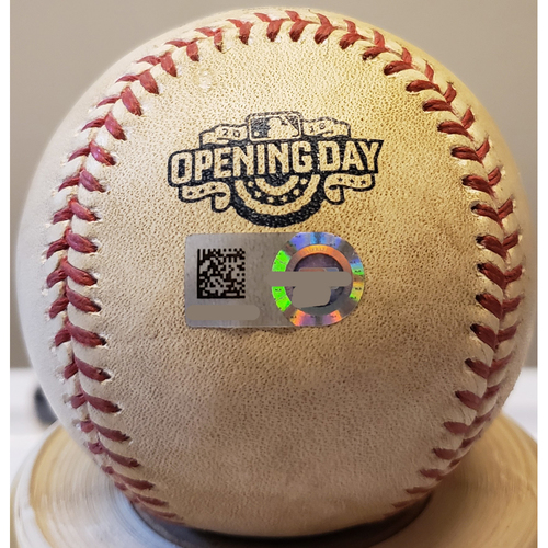 Photo of 2016 Opening Day - San Diego Padres at Colorado Rockies: Game-Used Baseball - Batter: Wil Myers, Pitcher: Justin Miller - Top of 5, Ball - 4/8/16