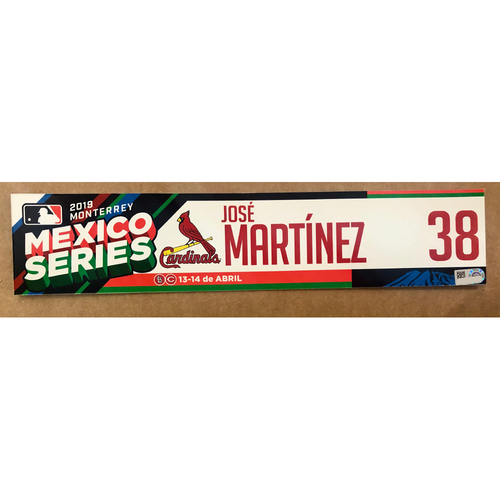 2019 Mexico Series - Game Used Locker Tag -Jose Martinez -  St. Louis Cardinals
