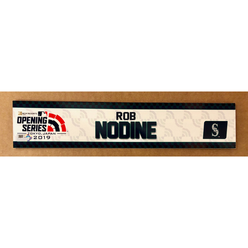 Photo of 2019 Japan Opening Day Series - Game Used Locker Tag - Rob Nodine -  Seattle Mariners