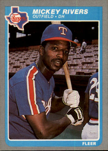 Photo of 1985 Fleer #565 Mickey Rivers
