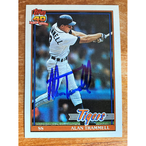 Photo of Alan Trammell Autographed Detroit Tigers 1991 Baseball Card (NOT MLB AUTHENTICATED)