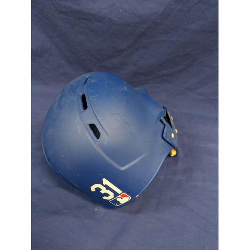 Photo of Joc Pederson Team-Issued 2019 Postseason Helmet