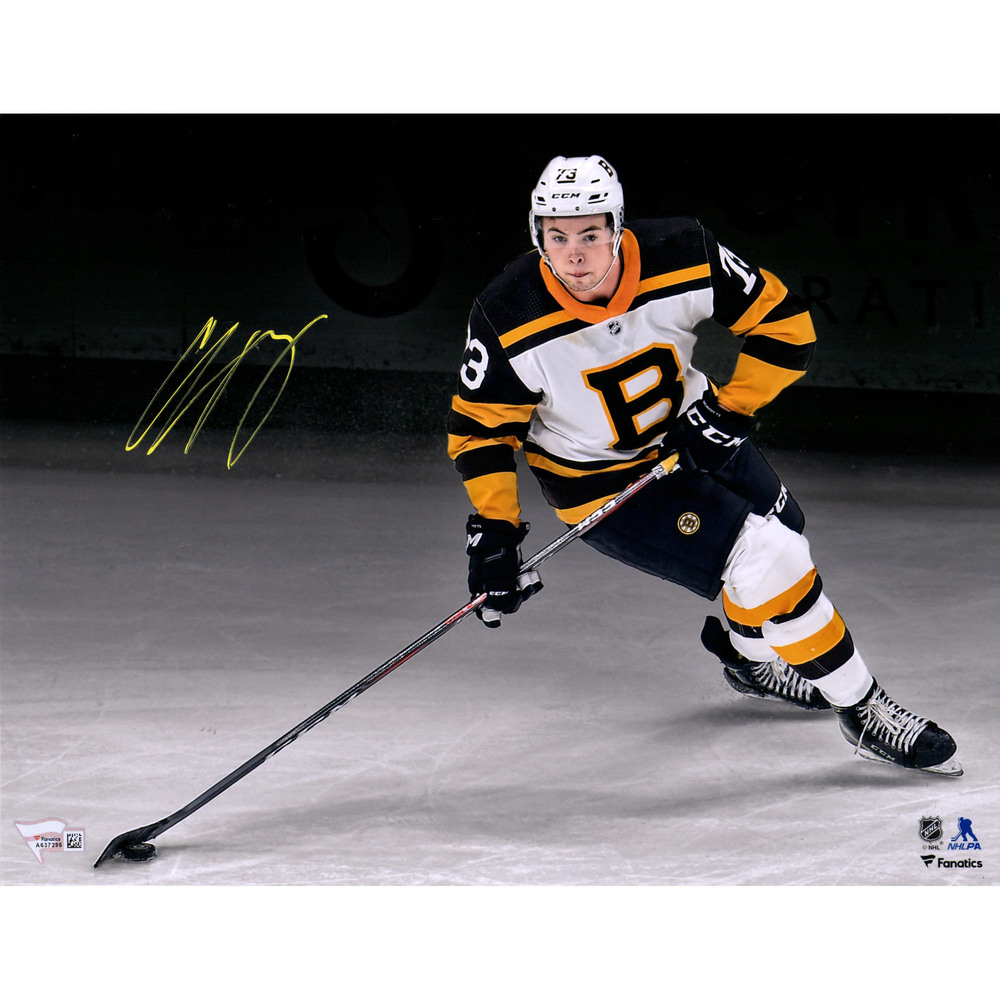 Charlie McAvoy Boston Bruins Autographed 11