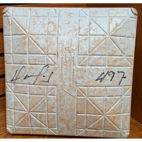Photo of David Ortiz Autographed '497' September 6, 2015 Game Used 2nd Base