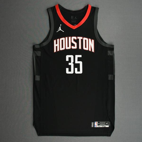 Image of Christian Wood - Houston Rockets - Kia NBA Tip-Off 2020 - Game-Worn Statement Edition Jersey - Recorded a 31-Point Double-Double