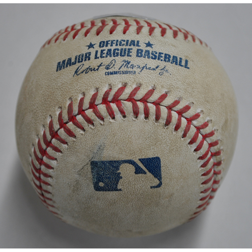 Photo of Game-Used Baseball - CHC vs. PIT - 9/22/2020 - Pitcher - Adbert Alzolay, Batter - Ke'Bryan Hayes, Bottom 6, Single