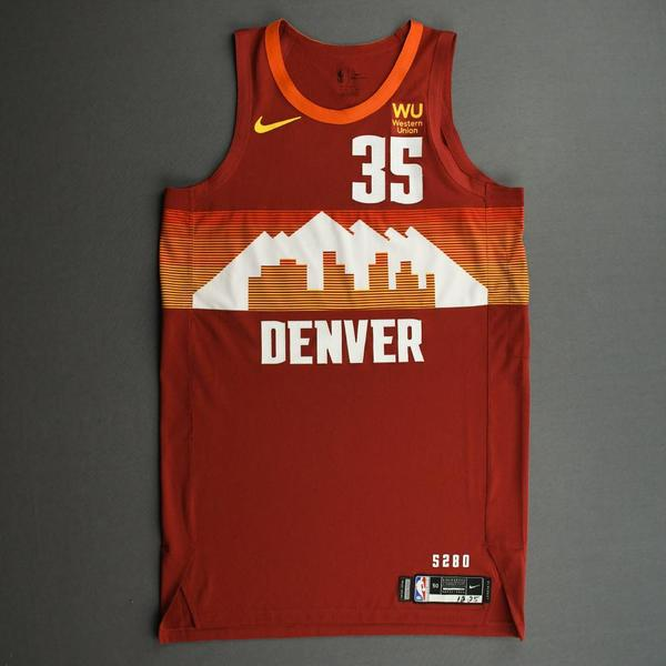 Image of PJ Dozier - Denver Nuggets - Game-Worn City Edition Jersey - Christmas Day' 20