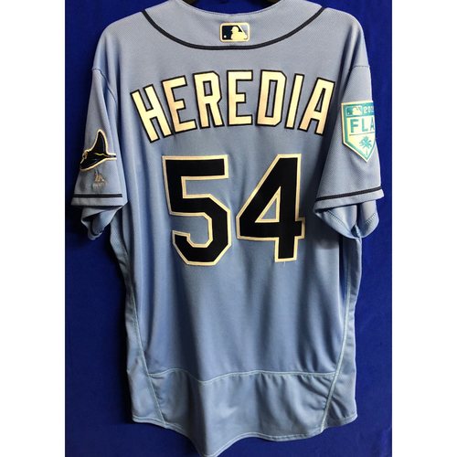 Photo of Game Used Spring Training Jersey: Guillermo Heredia - March 26, 2019 v DET