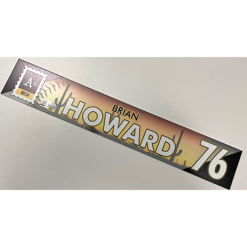 Photo of Game-Used 2021 Spring Training Locker Nameplate - Brian Howard