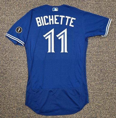 Photo of Authenticated Team Issued Jersey: #11 Bo Bichette (2020 Season). Set 3. Size 42.