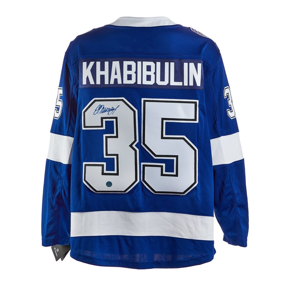 Nikolai Khabibulin Tampa Bay Lightning Signed Fanatics Jersey