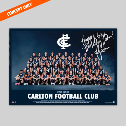 Photo of Personalised Team Poster - Select your player and message