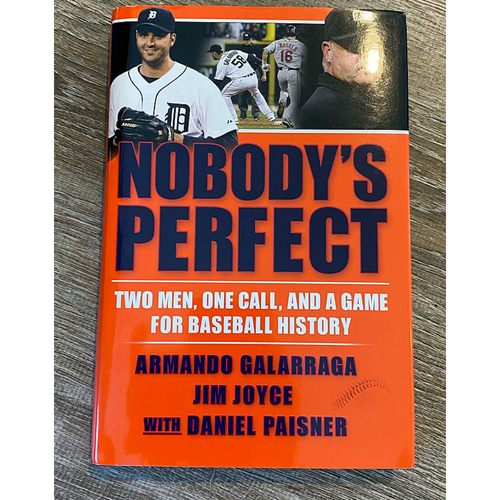 Photo of UMPS CARE AUCTION: Nobody's Perfect Book Autographed by Jim Joyce