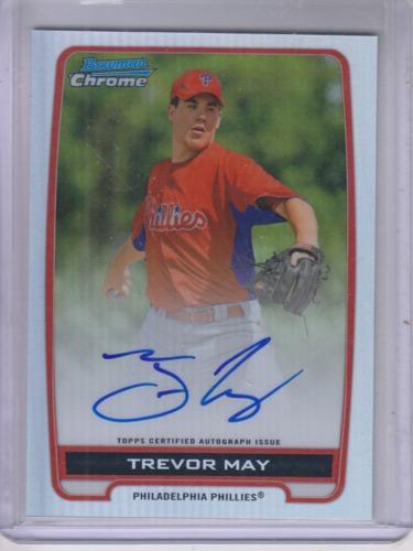 Photo of 2012 Bowman Chrome Prospect Autographs Refractors #TM Trevor May