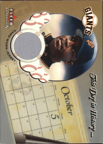 Photo of 2002 Fleer Tradition Update This Day In History Game Used #6 Barry Bonds Jsy