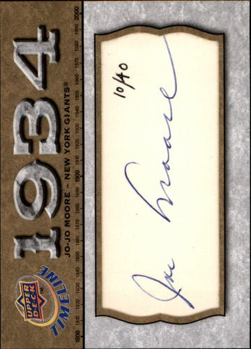 Photo of 2008 Upper Deck Timeline Cut Signature #JM Jo-Jo Moore AUTO 10/40