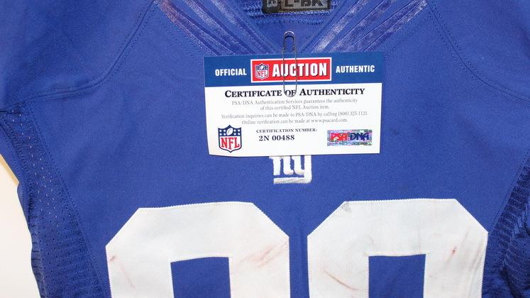 NFL Auction   GIANTS VICTOR CRUZ GAME WORN JERSEY (NOVEMBER 10, 2013)