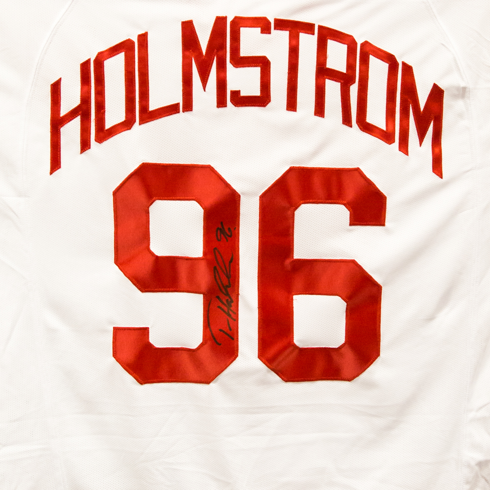 Autographed Tomas Holmstrom Jersey from Nicklas Lidstrom Jersey Retirement Night - Detroit Red Wings
