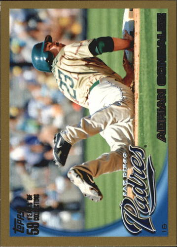 Photo of 2010 Topps Gold Border #75 Adrian Gonzalez