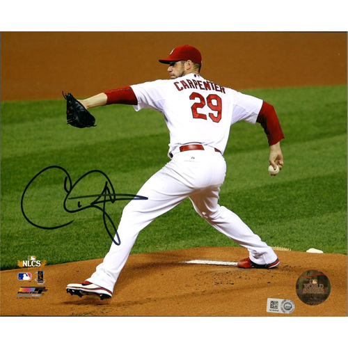 Cardinals Authentics: Chris Carpenter Autographed 2011 NLCS Photo