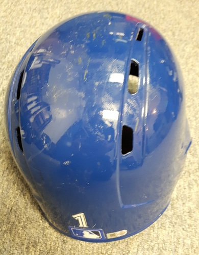 Photo of Authenticated Game Used 2017 Helmet - #1 Raffy Lopez. Size 7 1/8.