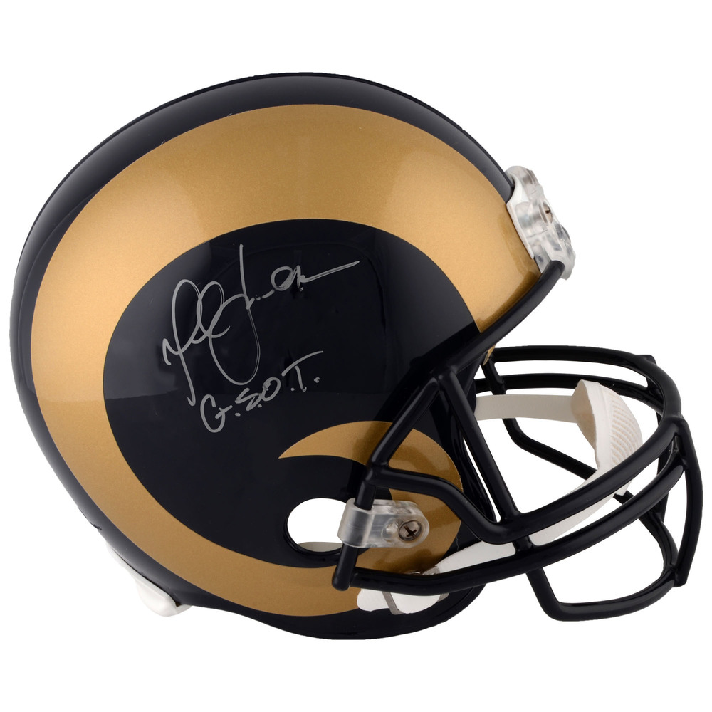 Marshall Faulk St. Louis Rams Autographed Riddell Throwback Pro-Line Helmet with