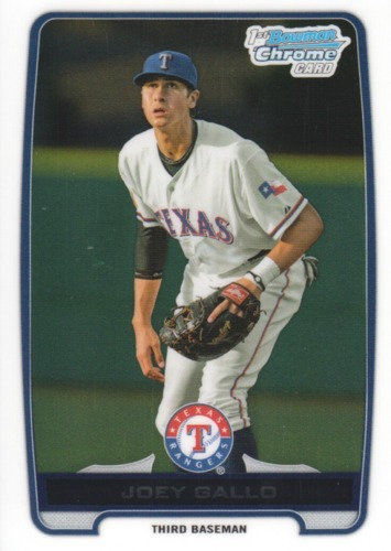 Photo of 2012 Bowman Chrome Draft Draft Picks #BDPP32 Joey Gallo Pre-Rookie Card