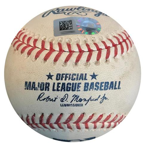 Photo of Game-Used Baseball from Pirates vs. Tigers on 4/25/18 (Game 1) - Nicholas Castellanos RBI Single