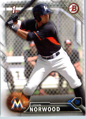 Photo of 2016 Bowman Prospects #BP27 John Norwood