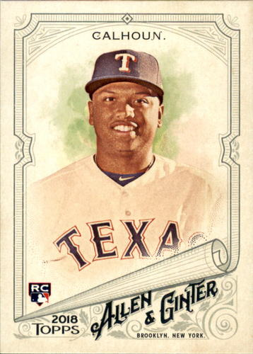 Photo of 2018 Topps Allen and Ginter #255 Willie Calhoun RC