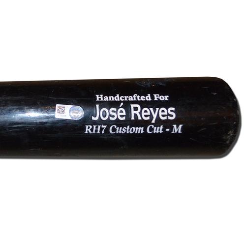Photo of Jose Reyes #7 - Game Used Cracked Bat - Black Marucci Model - Mets vs. Rays - 7/8/18