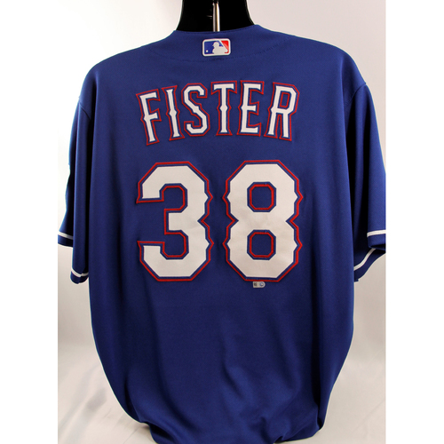 Photo of Game-Used Blue Jersey - Doug Fister - 5/12/18